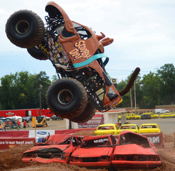 Scooby Doo Monster Truck at Hagerstown Speedway's annual Monster Jam.