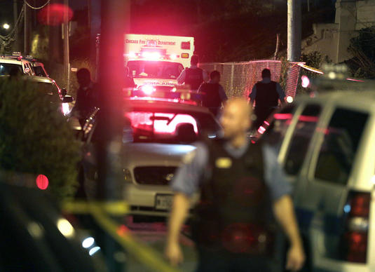 Officials responded to a gang fight that left a man dead near 57th Place and Central Park Avenue in Chicago early on July 21.