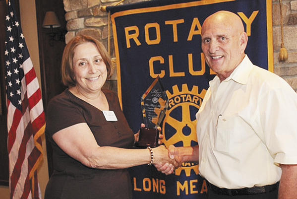 The Rotary Club of Long Meadows recognized Rotarian Sila Alegret-Bartel as its Advocate of the Year. At a special ceremony, Alegret-Bartel was presented with an engraved award by Club President Ron Bowers for her efforts to improve the conditions of people internationally through programs like the Guatemala Literacy Program. Guatemala has extremely high rates of illiteracy and poverty. Rotary supports literacy programs.