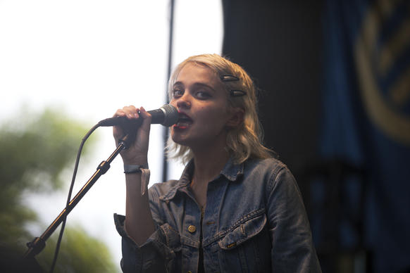 Sky Ferreira performs at the Pitchfork M