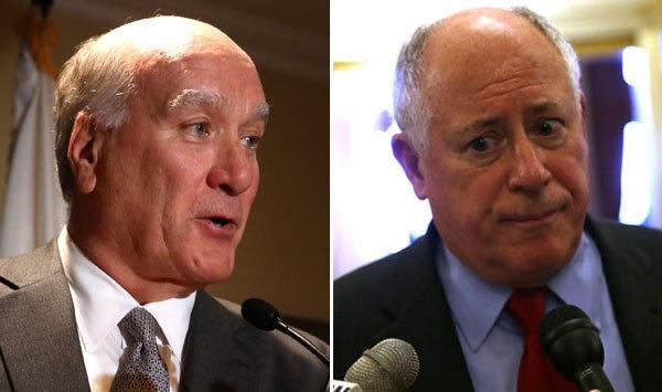 Bill Daley, left, and Gov. Pat Quinn.