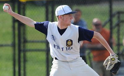 Somerset starting pitcher Zac Cooney delivers against Unity in American Legion Region 7 Tournament play on Sunday.