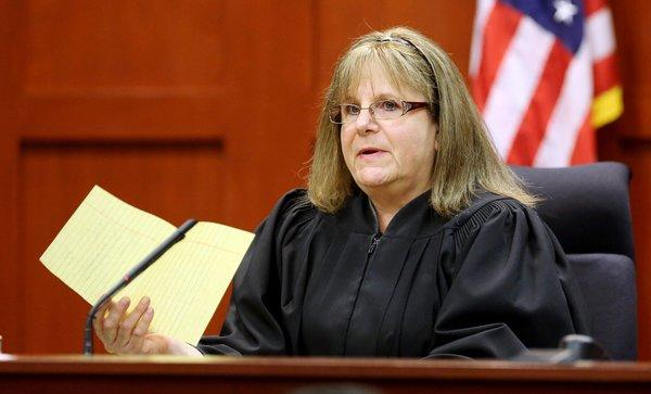 Judge Debra Nelson addresses attorneys on the 25th day of George Zimmerman's trial at the Seminole County Criminal Justice Center in Sanford, Fla.