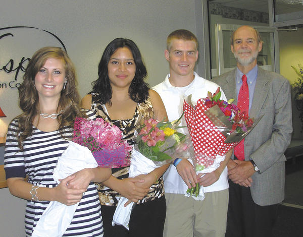 From left, Damara McDonough, Karla Pandura, Sean Kreps and Dr. Frederic H. Kass III.