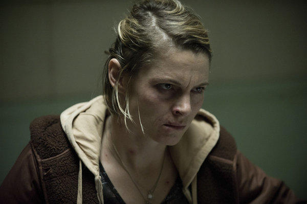 Danette Leeds (Amy Seimetz) confronts her former flame Joe Mills about the whereabouts of her missing daughter Kallie.