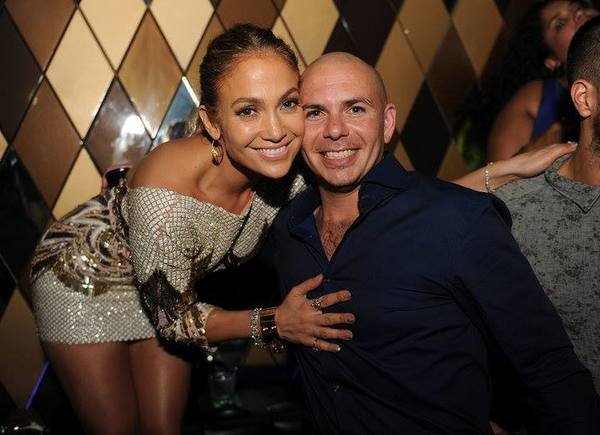 Celeb-spotting around South Florida - Jennifer Lopez and Pitbull at Wall Miami