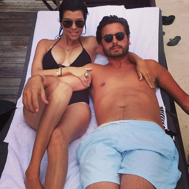 Celeb-spotting around South Florida - Kourtney Kardashian and Scott Disick