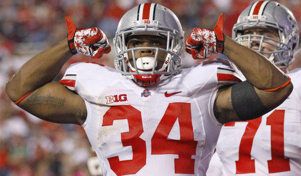 Running back Carlos Hyde reportedly has been kicked off the Ohio State football team in connection with an alleged assault against a woman.