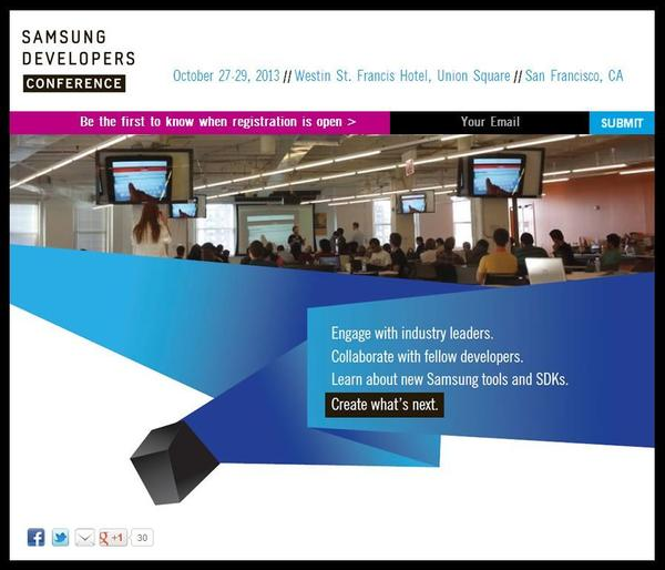 Samsung plans developers conference