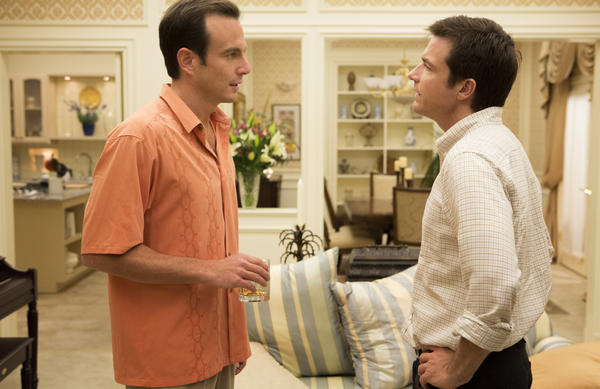 """Netflix's production of a new season of """"Arrested Development"""" helped fuel an increase in the company's subscribers. Above, """"Arrested Development"""" cast members Will Arnett, left, and Jason Bateman."""