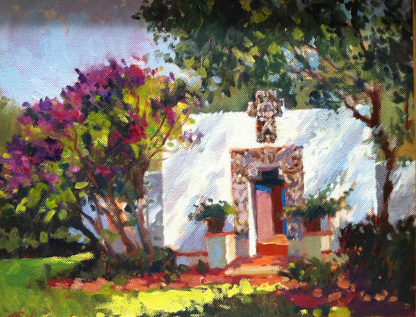 "Cynthia Edmonds' ""Dappled Sunlight,"" a 2006 oil on canvas, depicts the Maitland Art Center."