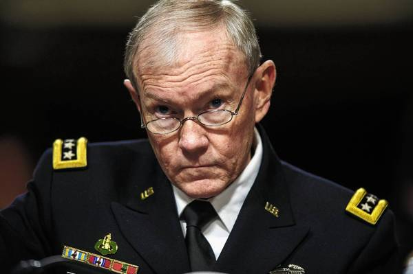 Gen. Martin Dempsey, chairman of the Joint Chiefs of Staff, outlined in a letter to the Senate Armed Services Committee five options the U.S. military could carry out in Syria. But he warned that even limited military involvement could backfire.