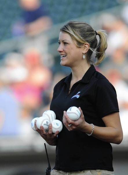 IronPigs director of promotions and entertainment Lindsey Knupp will lead the IronPigs ballgirls against the Oldtimers.