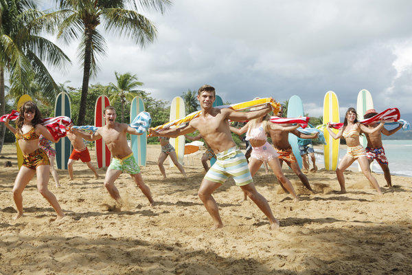 "A publicity photo from Disney Channel's ""Teen Beach Movie,"" which premiered Friday."