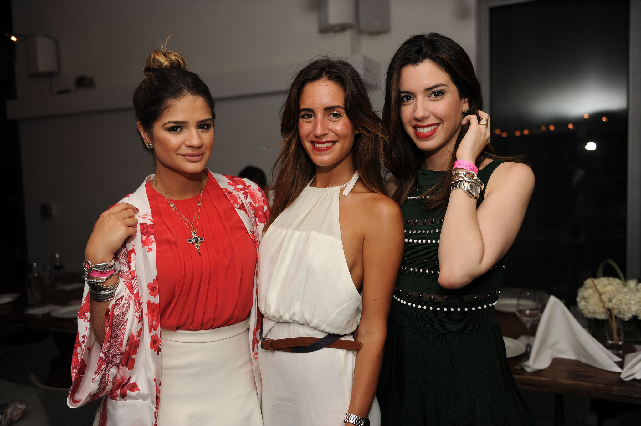 Society Scene photos - L to R: Thaissa Naves, Gala Gonzalez , Camila Coutinho