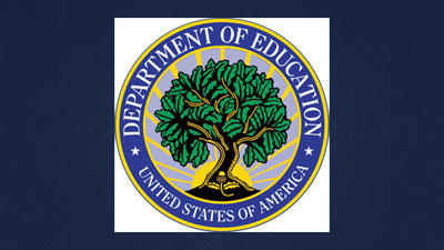 The logo for the U.S. Department of Education.