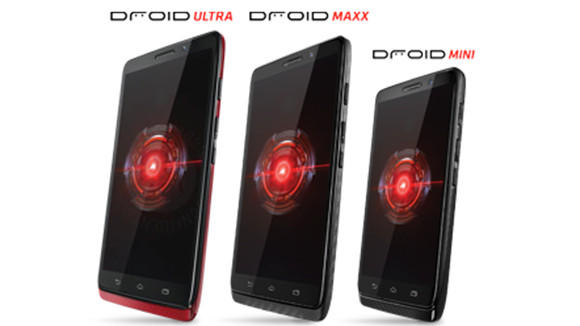 The new Droid family of smartphones.