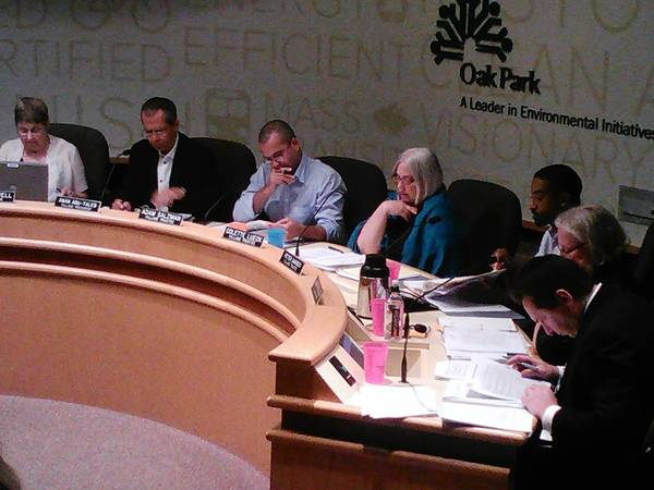 Oak Park village trustees on Monday discussed parking for a downtown development.
