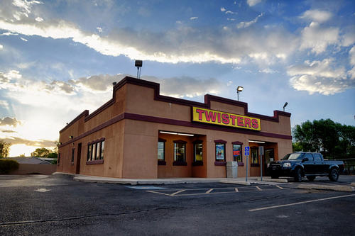 "The Twisters restaurant on Isleta Boulevard in Albuquerque is known not only for its giant burritos, but also for its recurring role in the ""Breaking Bad"" TV series."