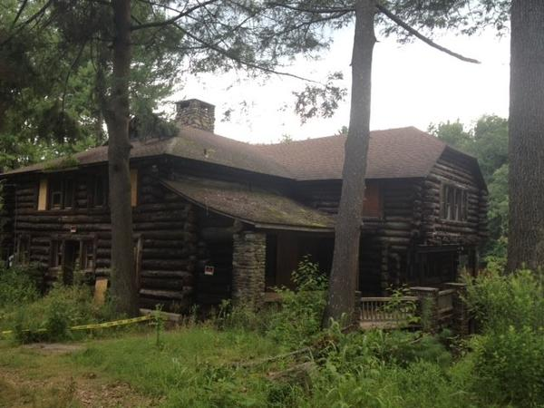 "The town-owned cabin on Upper Case Pond, scene of a movie titled, ""Animal,"" to be released in theaters next year."