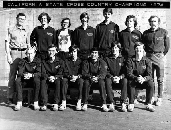 ARCHIVE PHOTO: Burbank High graduate and former Glendale Community College assistant track and field Coach Mark Covert, right end of the top row, has run one mile a day the past 45 years without a break.