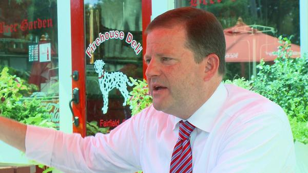 State Senate Republican leader John McKinney announced his intention to run for governor on Tuesday.