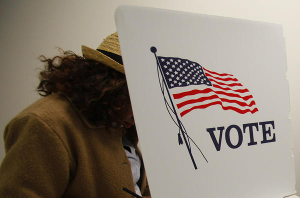 Voters cast their ballots at the Los Angeles County Registrar of Voters Office in the 2012 elections.