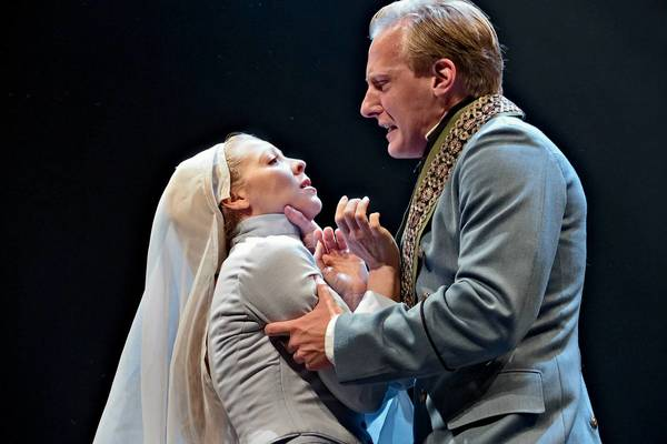 Erin Partin as Isabella and Blake Ellis as Angelo, the deputy in Vienna, in Shakespeare's 'Measure for Measure ' at the Pennsylvania Shakespeare Festival through Aug. 4.