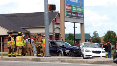 State police and the Somerset fire department responded to an accident at 4:30 p.m. Tuesday at the Walmart entrance along North Center Avenue in Somerset. There were two vehicles involved in the accident. Somerset ambulance crew members transported one patient to Somerset Hospital for injuries. The state police report was not available by press time.