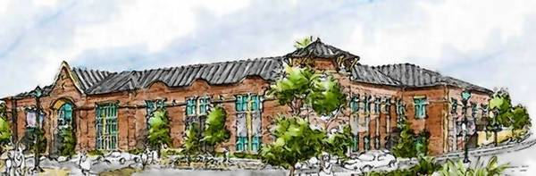 This image shows a rendering of Mundelein's new village hall, which is part of a proposed European-style plaza officials hope will help define the village's new image.