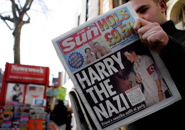 In 2005, Prince Harry, uncle of the British royal family's new baby, was photographed in a Nazi uniform, not surprising considering the behavior of some other family members.