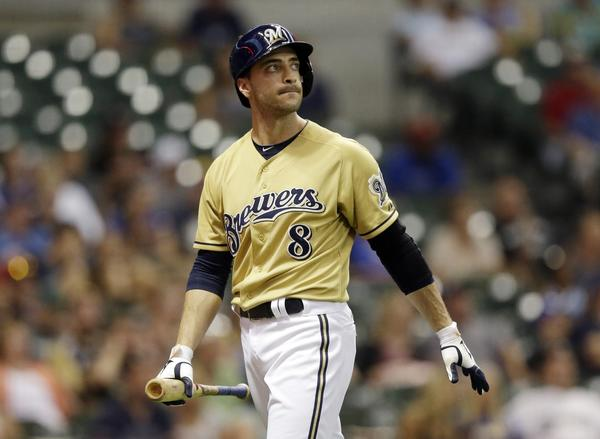 Ryan Braun will miss the rest of this season after being suspended for violating baseball's drug policy. Above, Braun after striking out in a game Sunday.