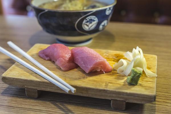 Fatty tuna nigiri at Ginza Restaurant