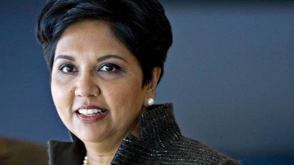 Indra Nooyi, PepsiCo CEO, takes questions at an 2010 investors meeting in New York.