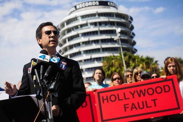 Attorney Robert Silverstein represents opponents of a proposed pair of office and residential towers that would be constructed next to the Capitol Records building in Hollywood. Critics say project proponents and Mayor Eric Garcetti are ignoring an earthquake fault that crosses the site.