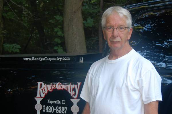 Naperville resident Randy Lipscomb, 61, operates Randy's Carpentry.