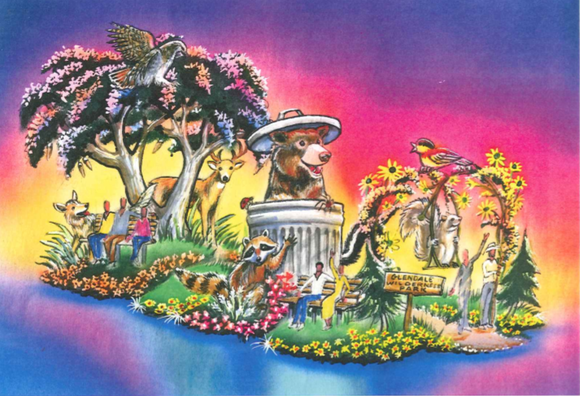The Glendale City Council unanimously approved this design for the city's 100th entry in the upcoming Rose Parade.