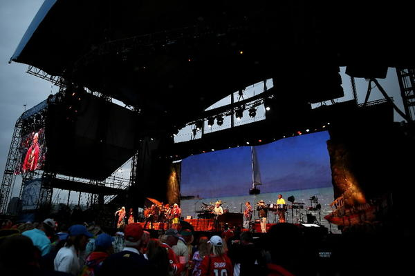 Jimmy Buffett performs at FirstMerit Bank Pavilion at Northerly Island in Chicago.