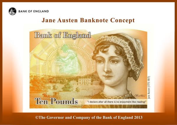 Jane Austen 10-pound note