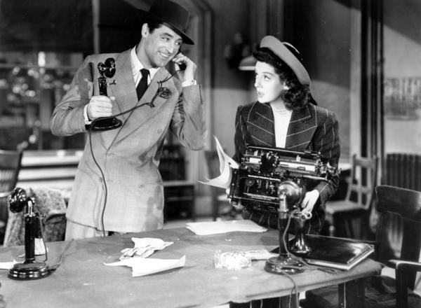 "Editor Walter Burns (played by Cary Grant) longs to get his ex-wife and former reporter Hildy Johnson (played by Rosalind Russell) back into the newspaper game in the 1940 film ""His Girl Friday."" Decades later, the Labor Department reports that men work slightly longer per day than women."