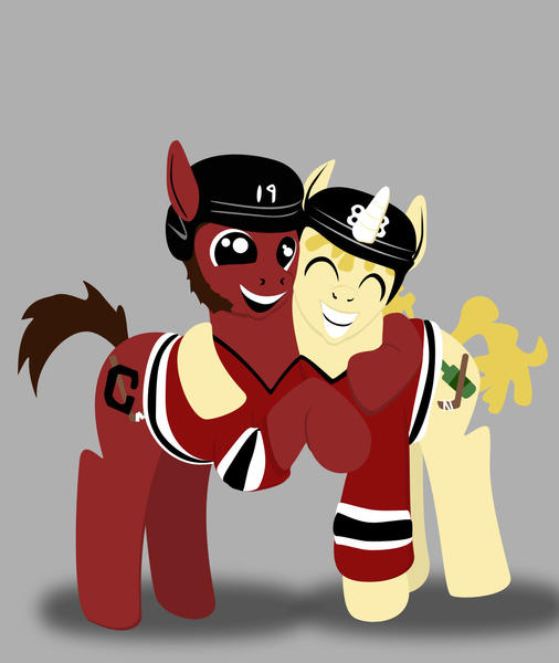 A Chicago graphic designer has mashed up the Hawks and My Little Pony.