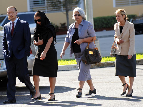 Donnie Eli, Rosie Marks, Rose Marks, and Nancy Marks arrive at the federal courthouse in West Palm Beach in this 2011 photograph. Mark Randall, South Florida Sun Sentinel