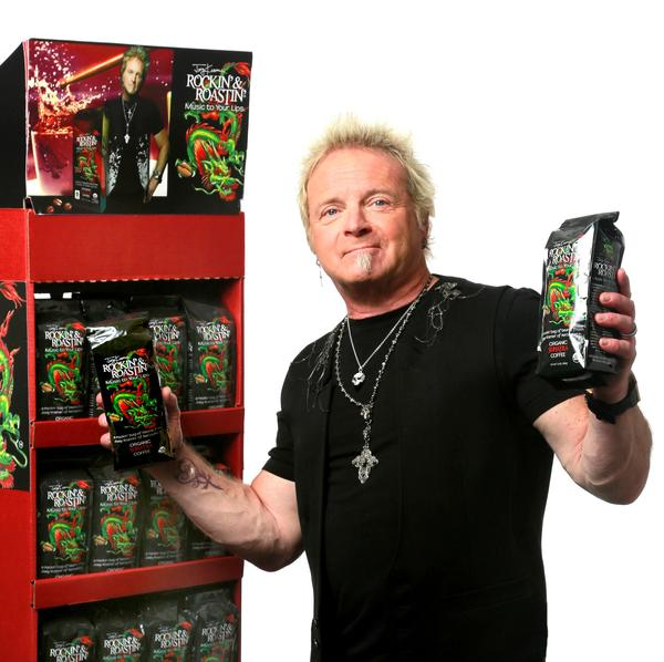 Joey Kramer and his Rockin' & Roastin' line of organic coffee.