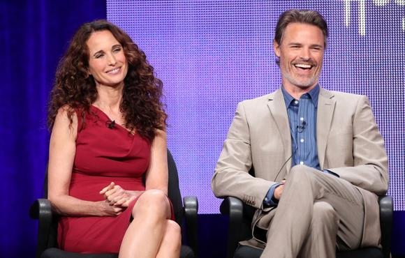 2013 summer TCA Tour: Andie MacDowell with Dylan Neal