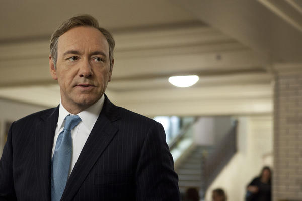 "Kevin Spacey as Francis Underwood in ""House of Cards."" Production crews from the show will be in Towson next week to film at the courthouse."