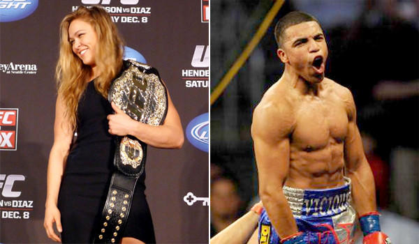 "UFC's Ronda Rousey and former welterweight boxing champion Victor Ortiz will appear in the third ""The Expendables"" film, Sylvester Stallone announced Wednesday."