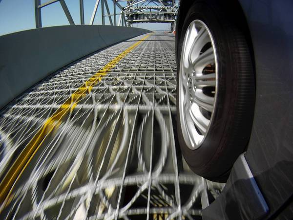After a spike in accidents, the Virginia Department is planning to weld studs to the grid deck on the James River Bridge.