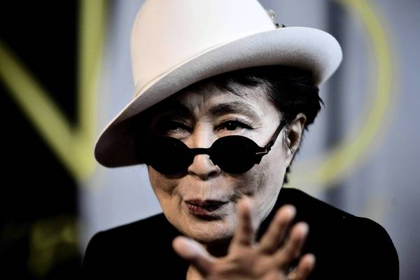 "Yoko Ono's new book is ""Acorn,"" a collection of thoughts."