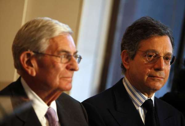 Eli Broad and Jeffrey Deitch