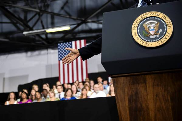 President Obama speaks at Knox College in Galesburg, Ill., in an attempt to revive the populist economic message that helped propel him to reelection.